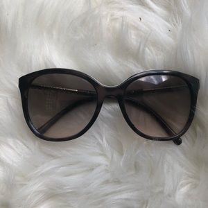 Burberry tortoise retro cat eye sunglasses